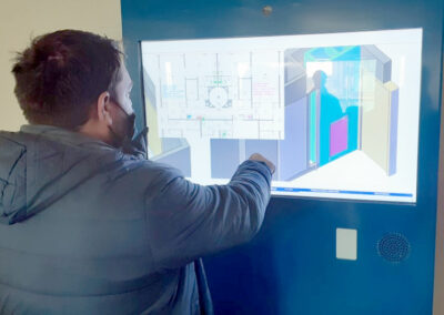 Présentation de l'ARPETE, tablette XXL sur le chantier